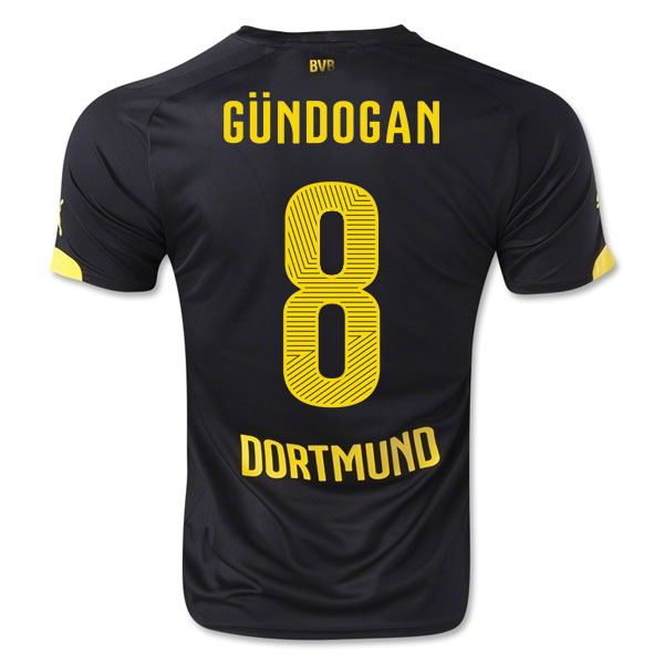 2014-15 Borussia Dortmund Away Shirt (Gundogan 8) - Kids