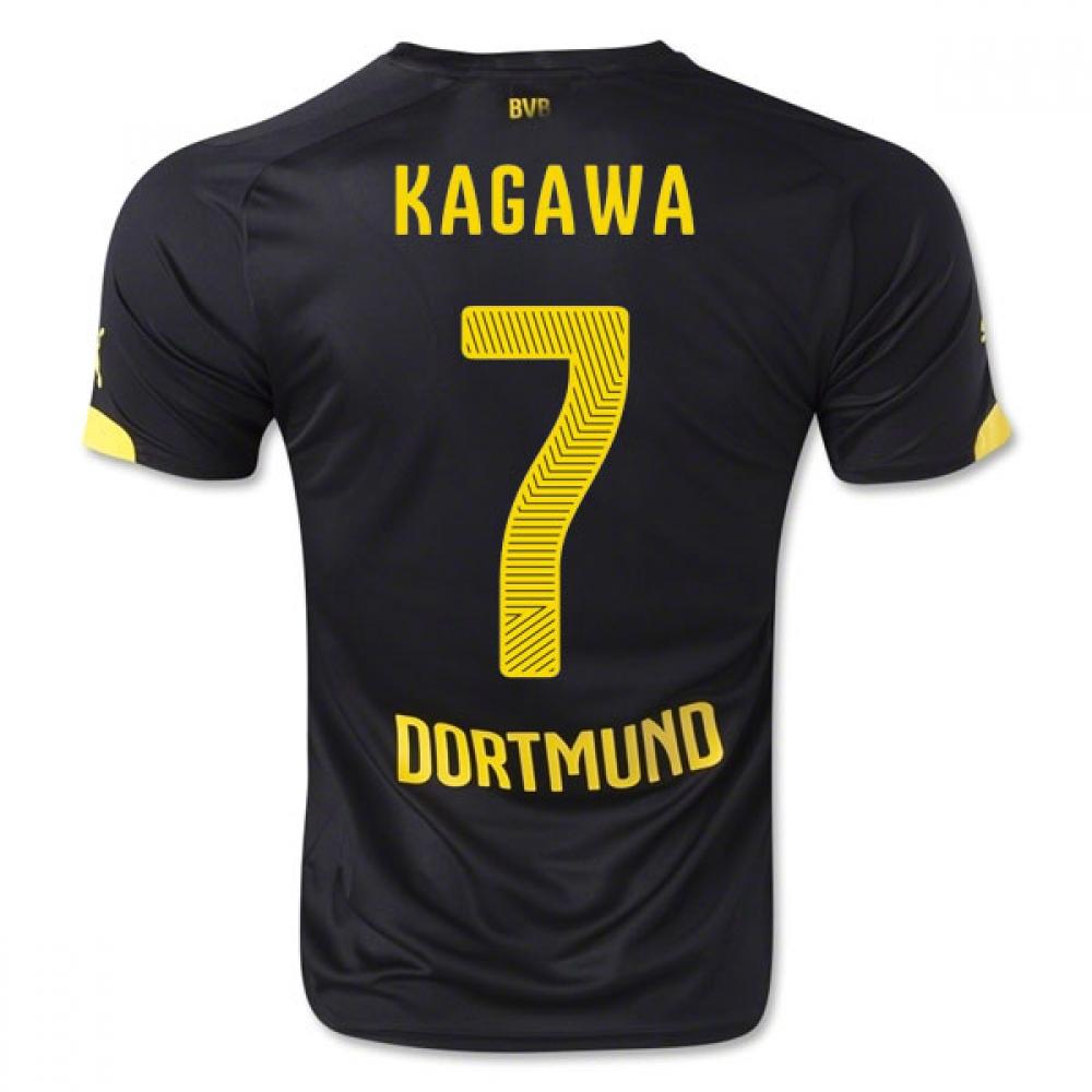 2014-15 Borussia Dortmund Away Shirt (Kagawa 7) - Kids