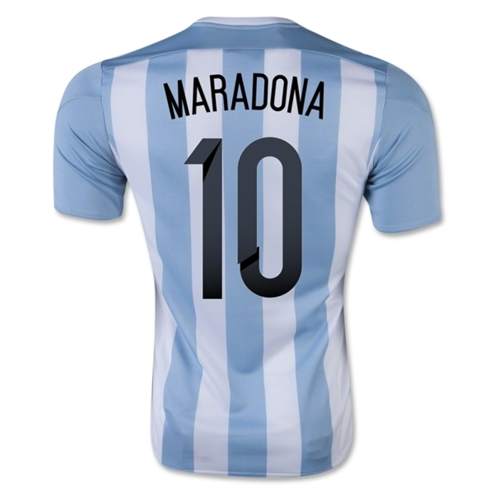 201516 Argentina Home Shirt (Maradona 10)  Kids