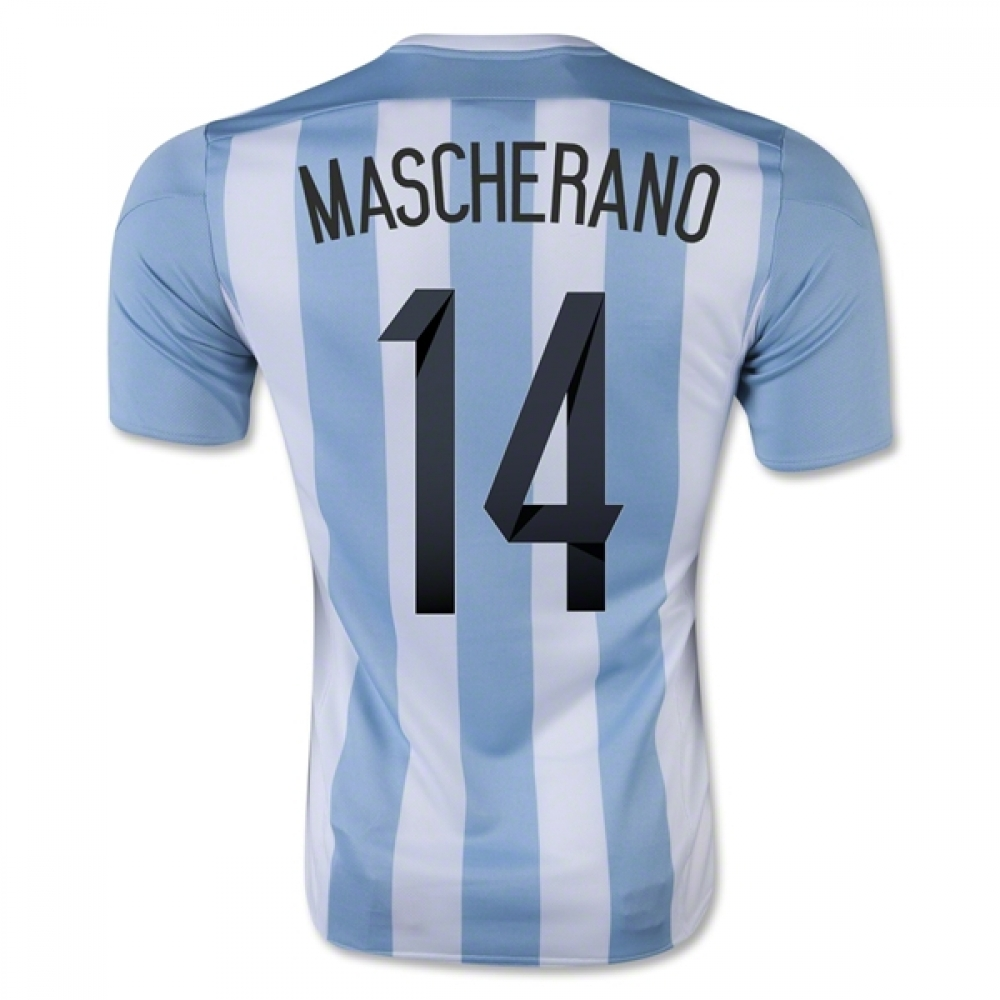 2015-16 Argentina Home Shirt (Mascherano 14) - Kids