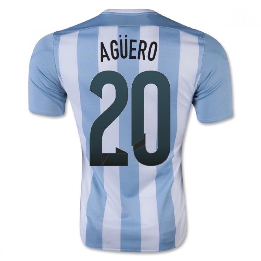 2015-16 Argentina Home Shirt (Aguero 20) - Kids
