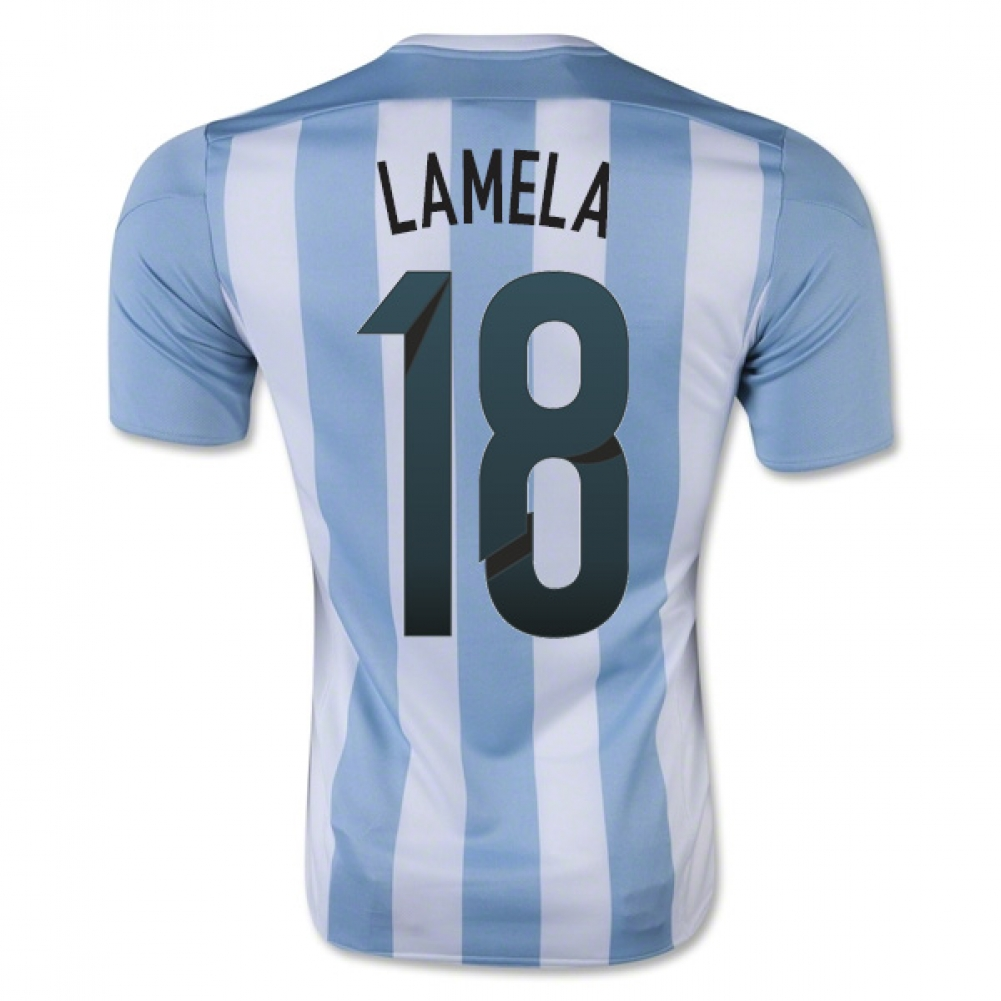2015-16 Argentina Home Shirt (Lamela 18) - Kids