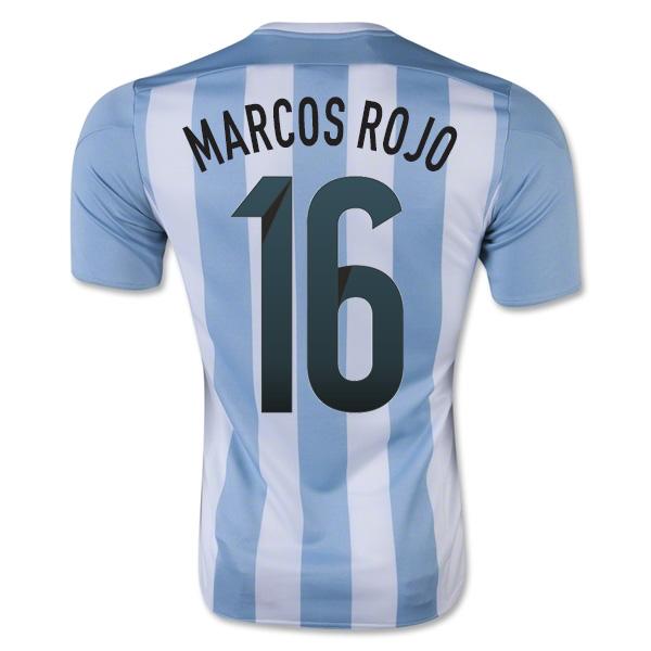 2015-16 Argentina Home Shirt (Marcos Rojo 16) - Kids