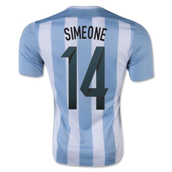 2015-16 Argentina Home Shirt (Simeone 14) - Kids