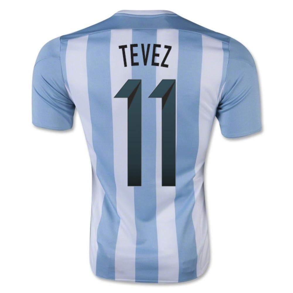 2015-16 Argentina Home Shirt (Tevez 11) - Kids
