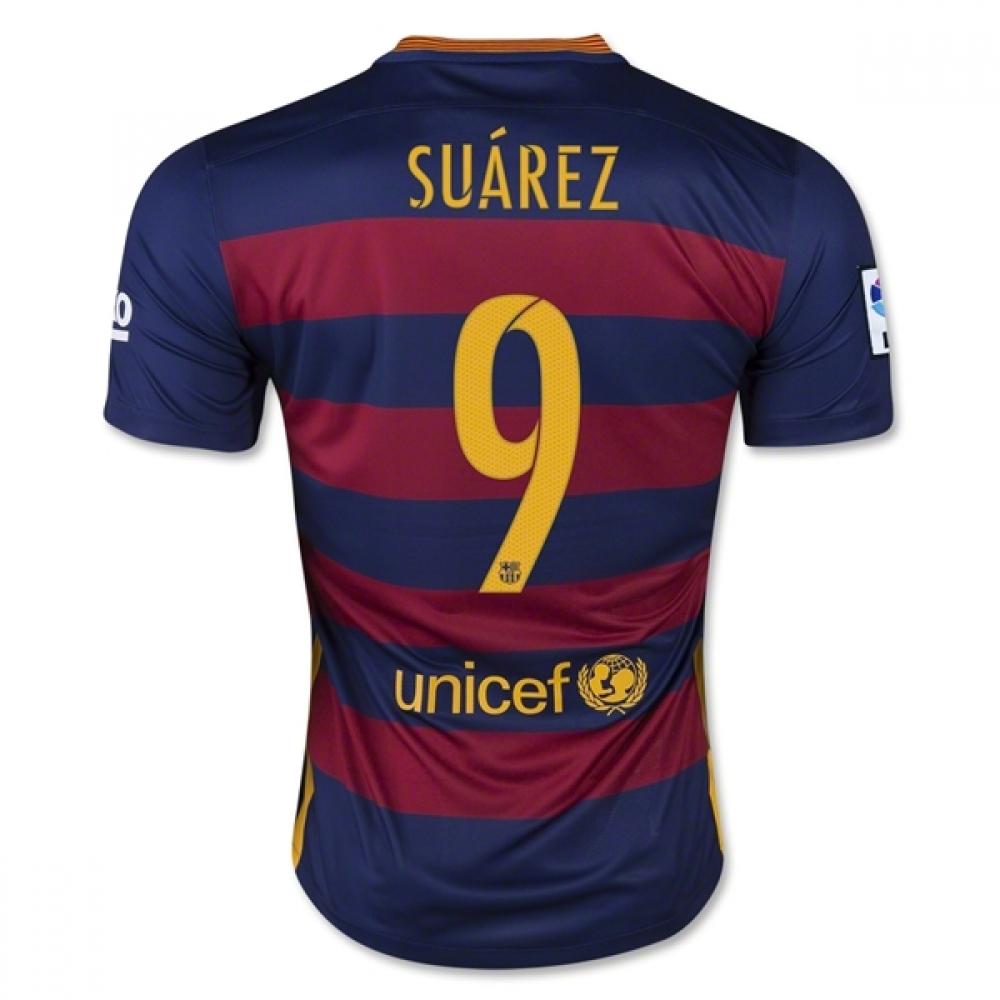 2015-16 Barcelona Home Shirt (Suarez 9) - Kids