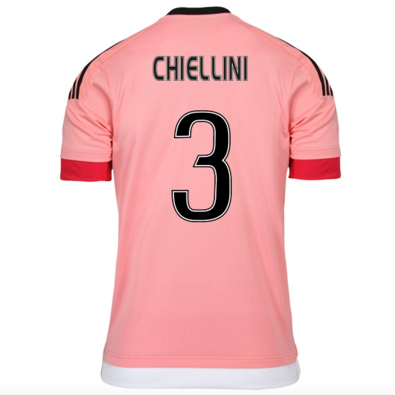 2015-16 Juventus Away Shirt (Chiellini 3) - Kids