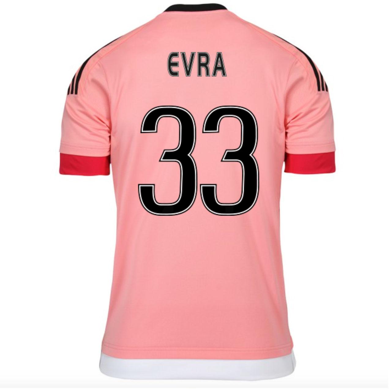 2015-16 Juventus Away Shirt (Evra 33) - Kids
