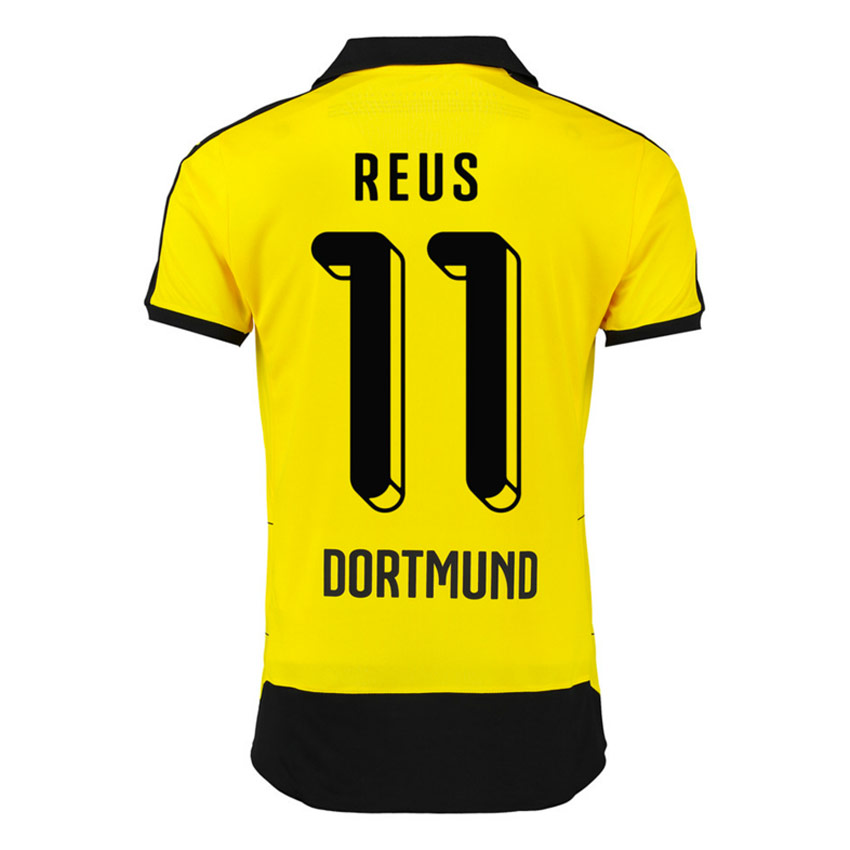 buy popular 8acaa 0a767 2015 2016 borussia dortmund yellow soccer jersey uniform 11 reus