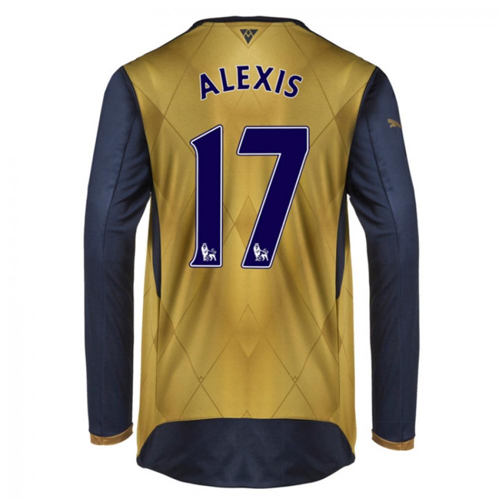 201516 Arsenal Long Sleeve Away Shirt (Alexis 17)  Kids