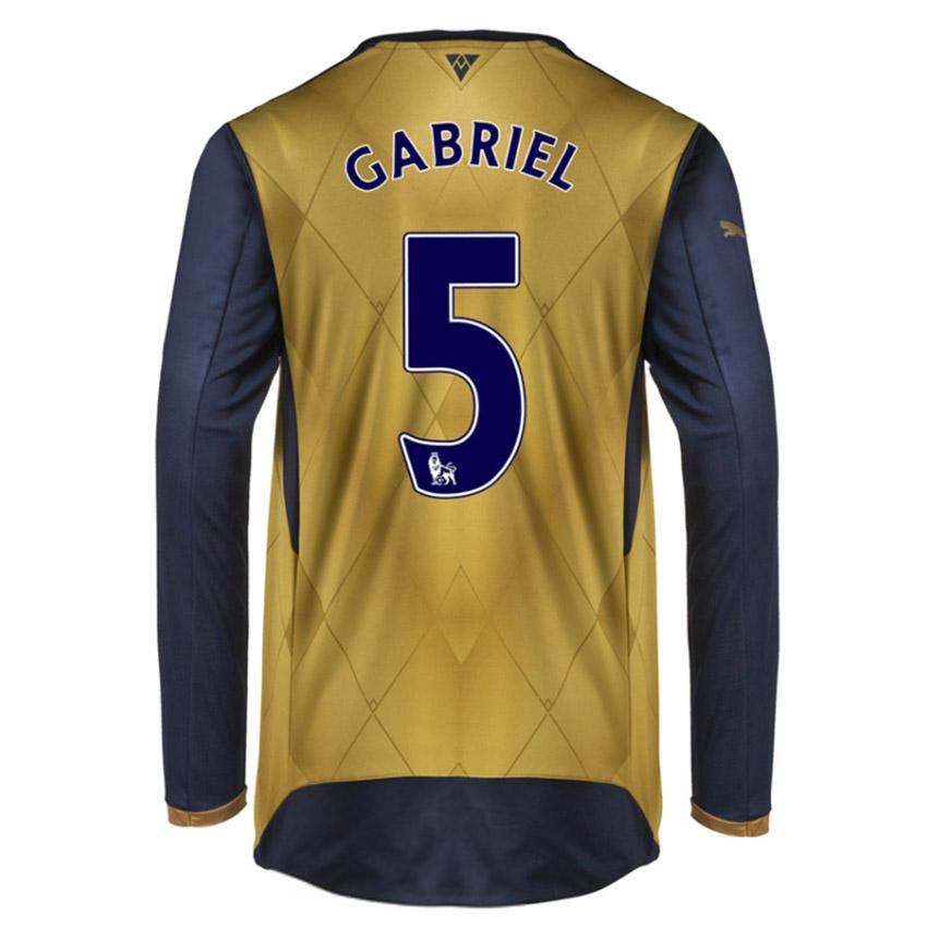 201516 Arsenal Long Sleeve Away Shirt (Gabriel 5)  Kids