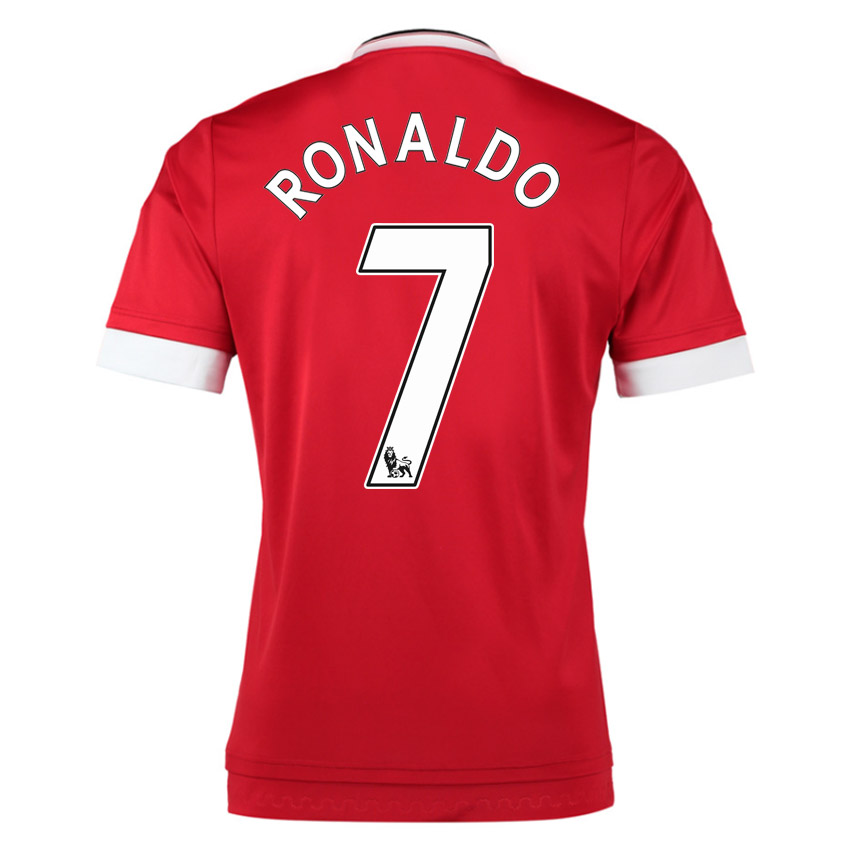 2015-16 Man United Home Shirt (Ronaldo 7) - Kids