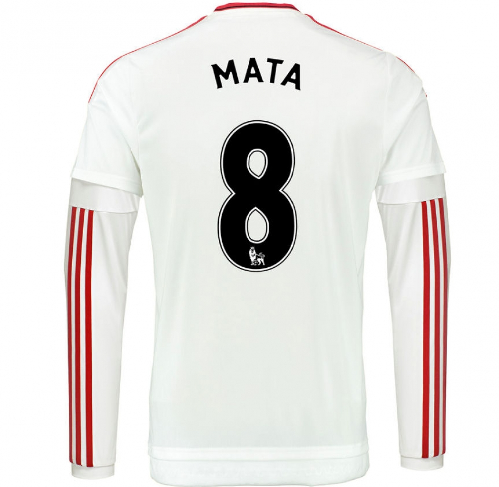 2015-2016 Man Utd Long Sleeve Away Shirt (Mata 8)