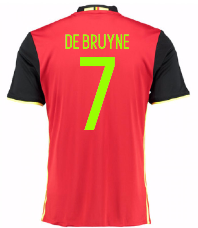 2016-2017 Belgium Home Shirt (De Bruyne 7) - Kids