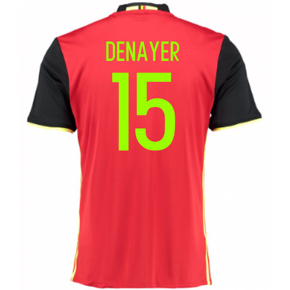 2016-2017 Belgium Home Shirt (Denayer 15) - Kids