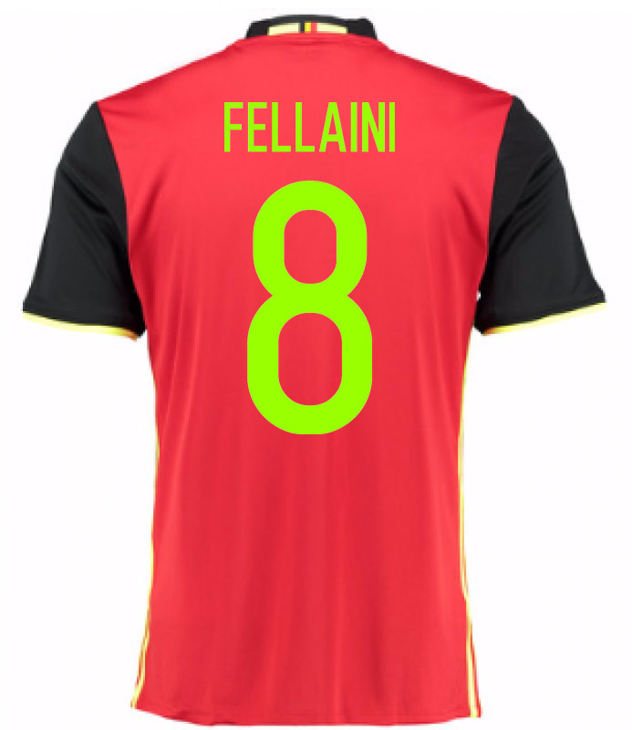 2016-2017 Belgium Home Shirt (Fellaini 8) - Kids