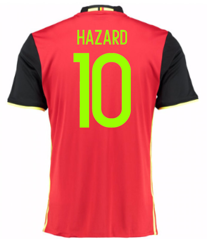 2016-2017 Belgium Home Shirt (Hazard 10) - Kids