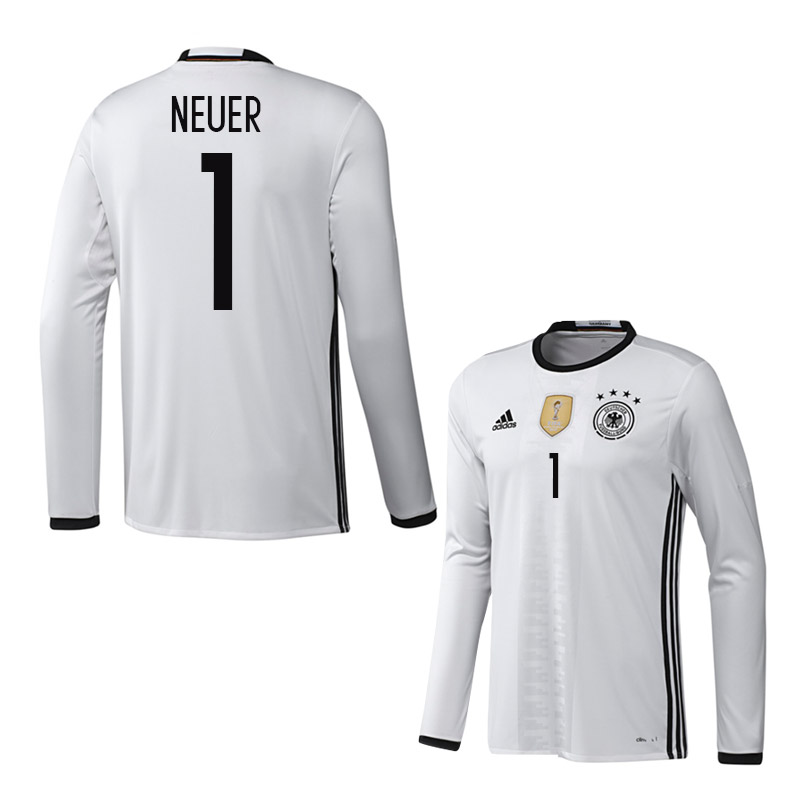 2016-2017 Germany Long Sleeve Home Shirt (Neuer 1)