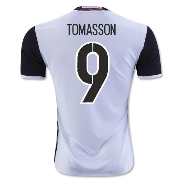 2016-2017 Denmark Away Shirt (Tomasson 9)