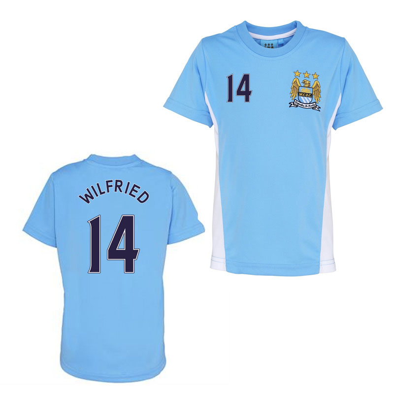 Official Man City Training T-Shirt (Sky Blue) (Wilfried 14)
