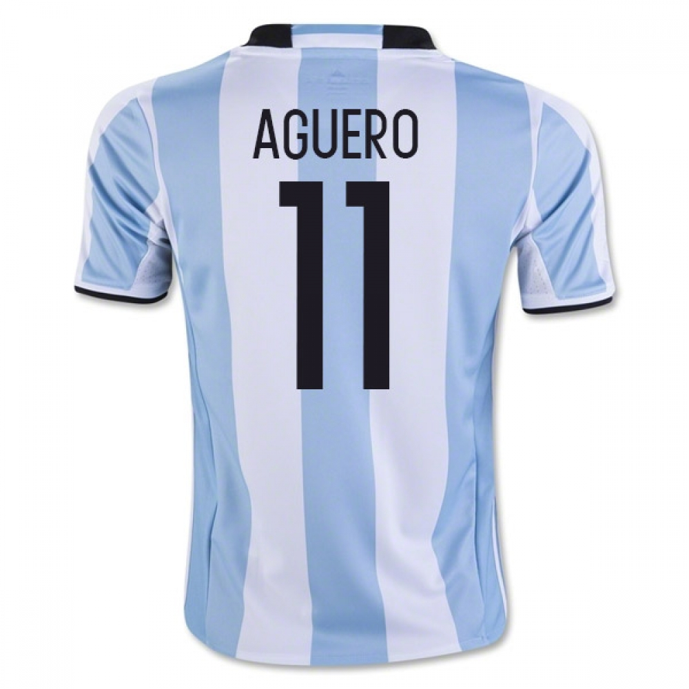 201617 Argentina Home Shirt (Aguero 11)  Kids