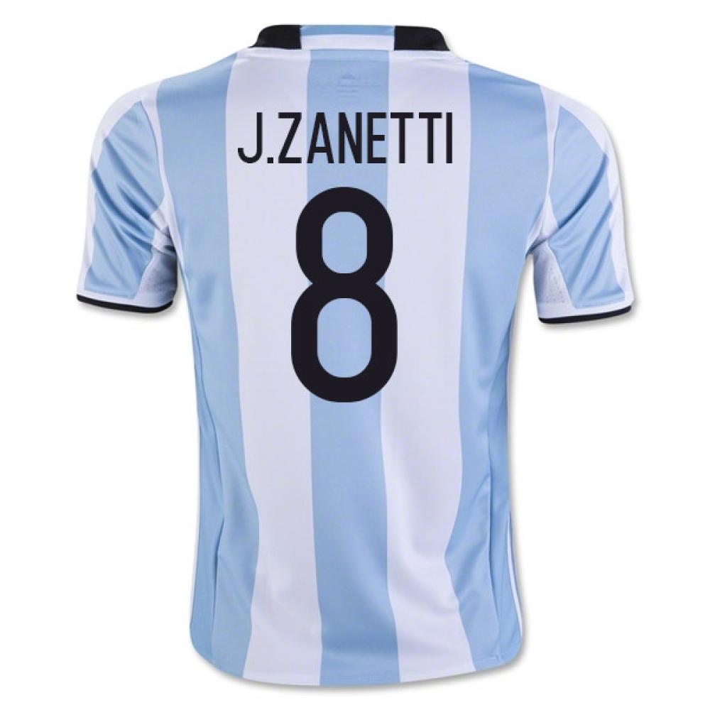 201617 Argentina Home Shirt (J.Zanetti 8)