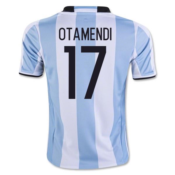201617 Argentina Home Shirt (Otamendi 17)  Kids
