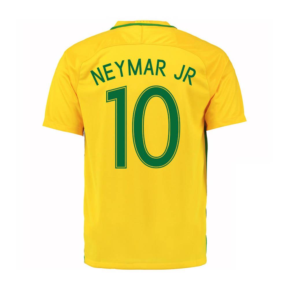 2016-17 Brazil Home Shirt (Neymar JR 10) - Kids