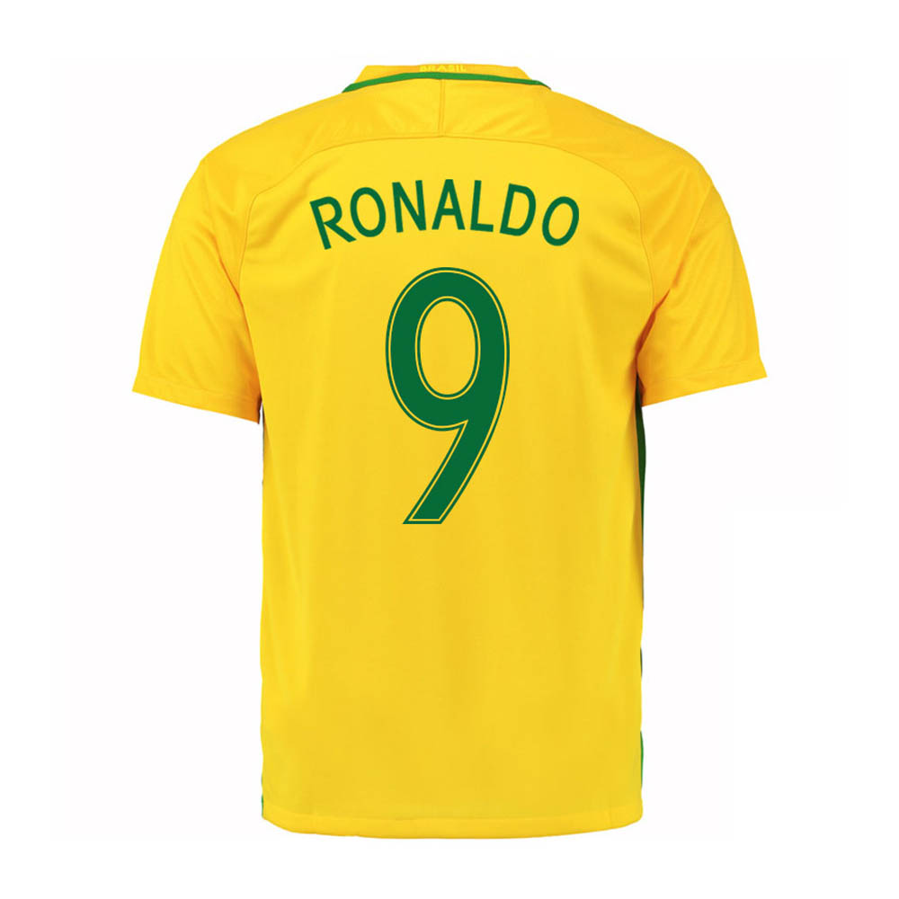 2016-17 Brazil Home Shirt (Ronaldo 9) - Kids
