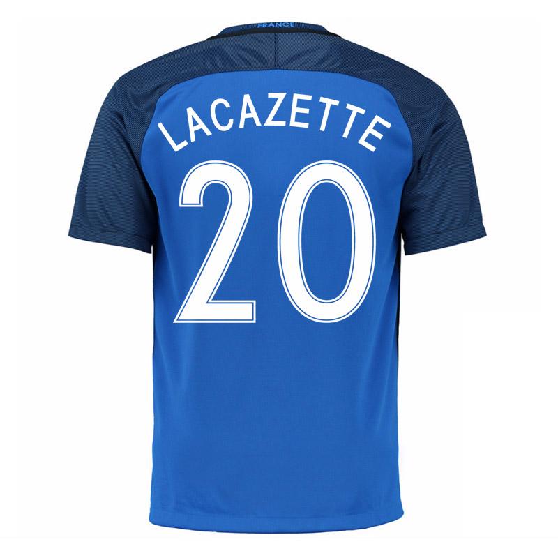 2016-17 France Home Shirt (Lacazette 20)