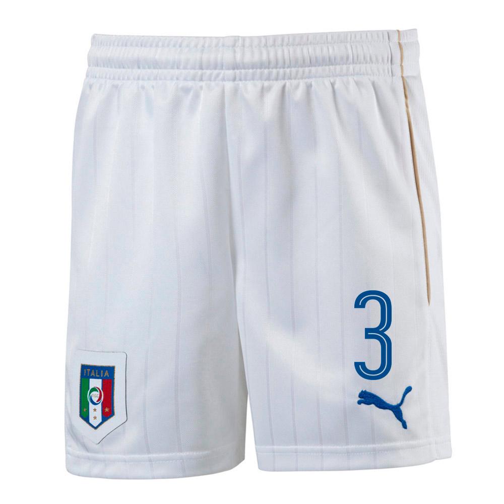 2016-17 Italy Home Shorts  (3) - Kids