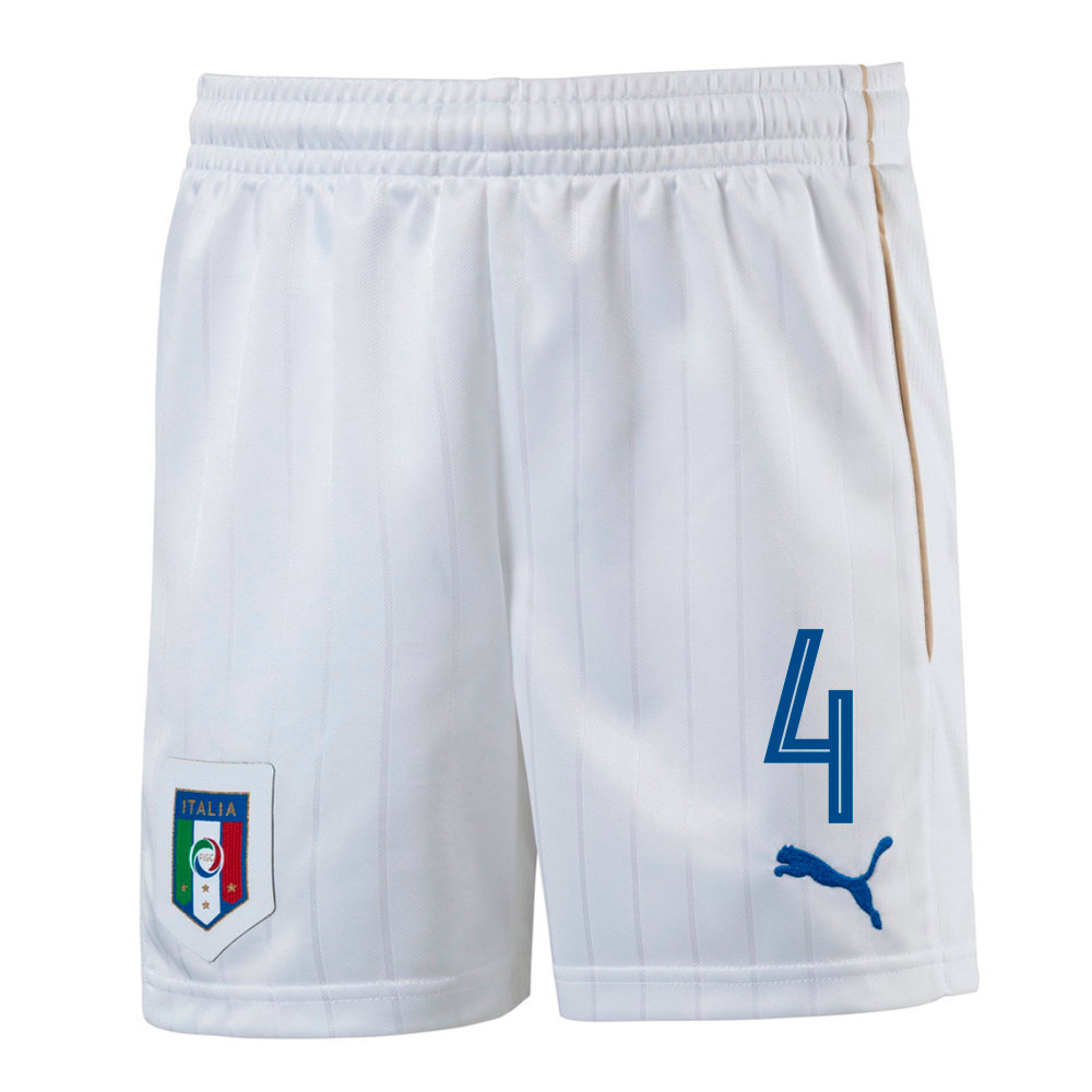 2016-17 Italy Home Shorts  (4) - Kids