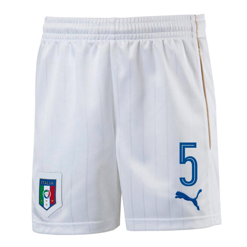 2016-17 Italy Home Shorts  (5) - Kids