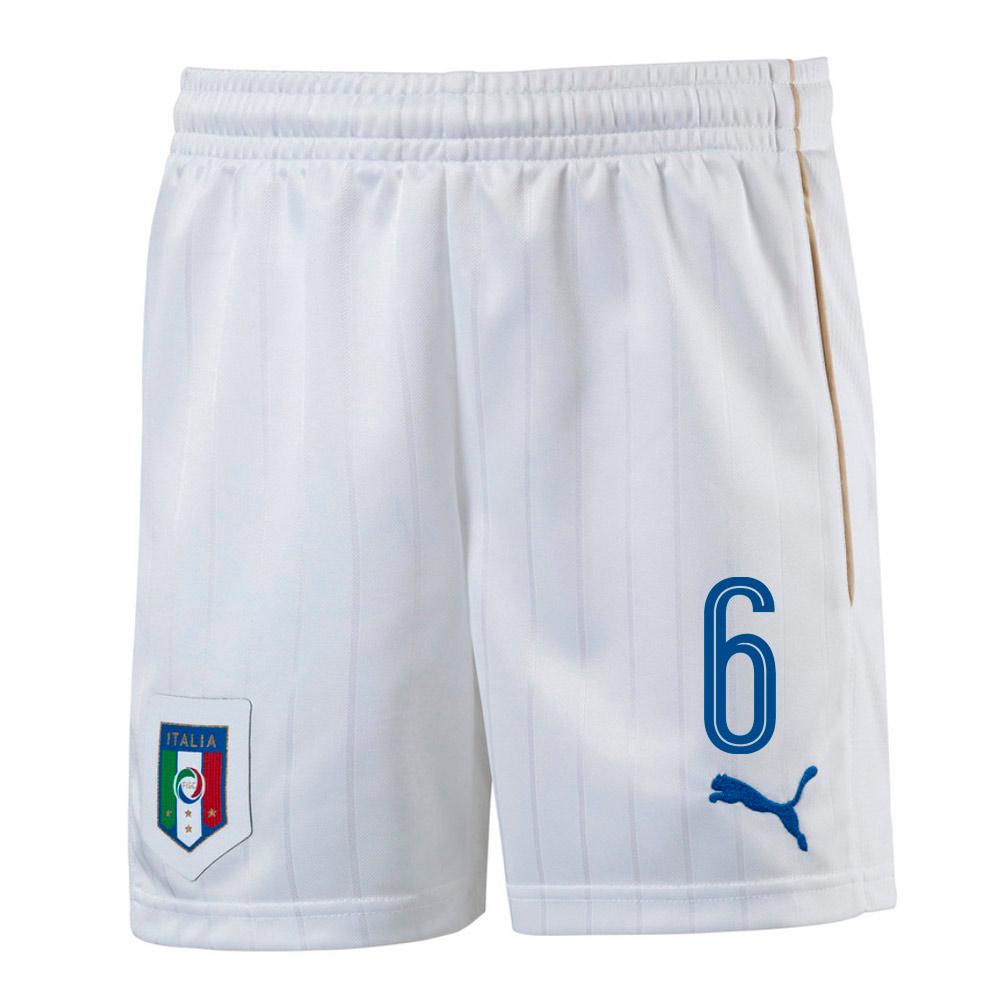 2016-17 Italy Home Shorts  (6) - Kids