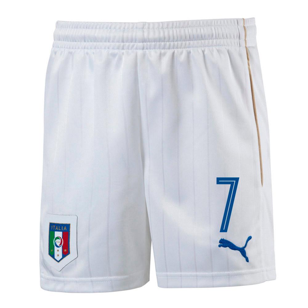 2016-17 Italy Home Shorts  (7) - Kids