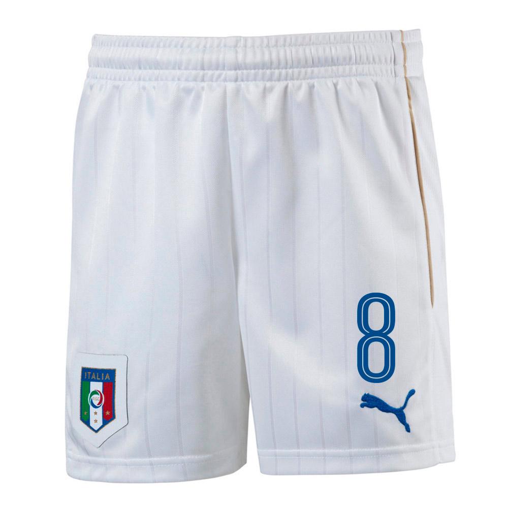 2016-17 Italy Home Shorts  (8) - Kids