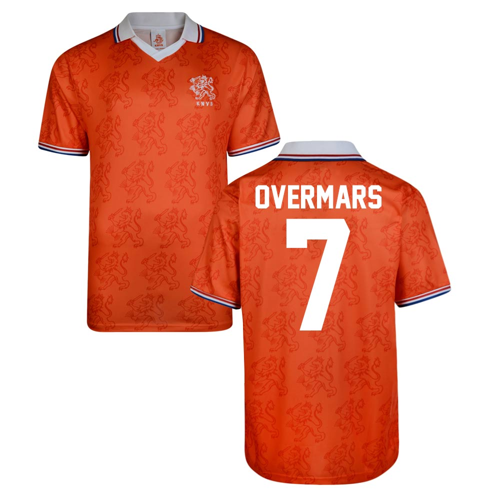 Score Draw Holland World Cup 1994 Home Shirt (Overmars 7)