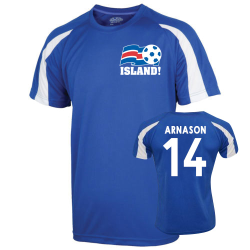 Image of 2016-17 Iceland Sports Training Jersey (Arnason 14)