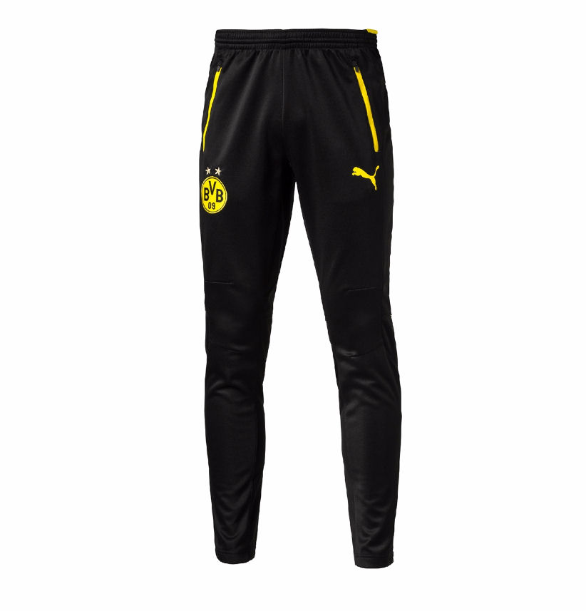 2016-2017 Borussia Dortmund Puma Training Pants with Pockets (Black) - Kids
