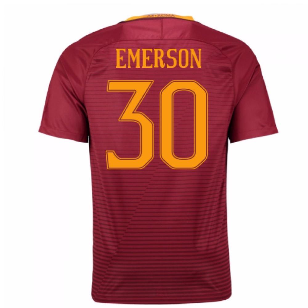 2016-17 Roma Home Shirt (Emerson 30) - Kids