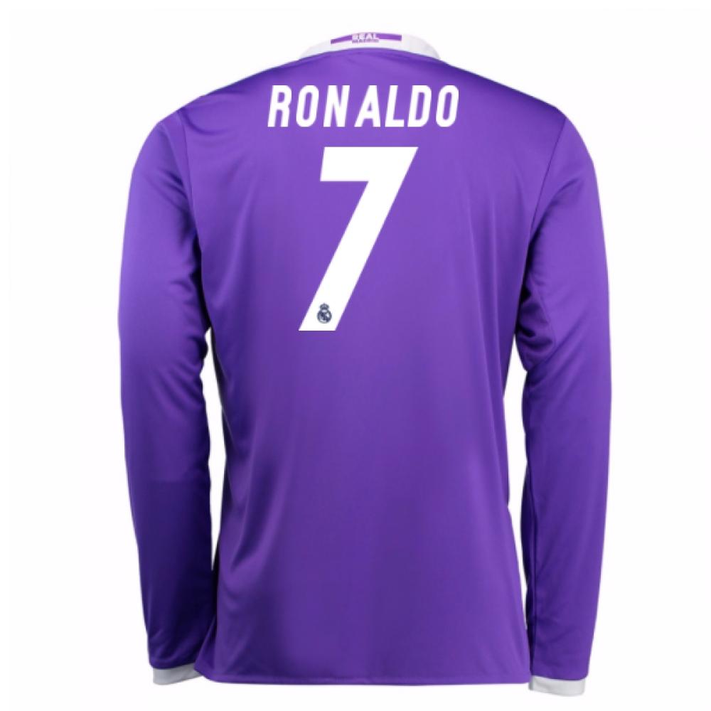 2016-17 Real Madrid Away Longsleeve Shirt (Ronaldo 7) - Kids