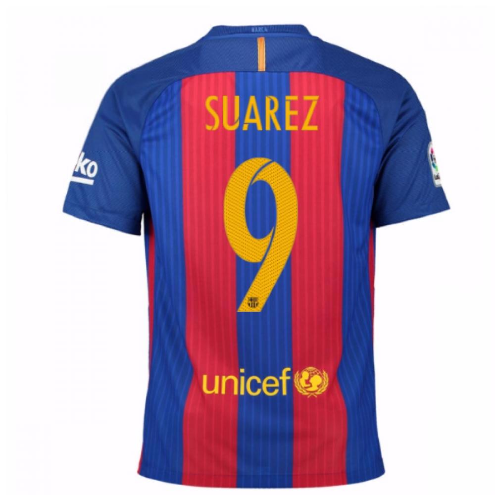2016-17 Barcelona Home Shirt (Suarez 9) - Kids