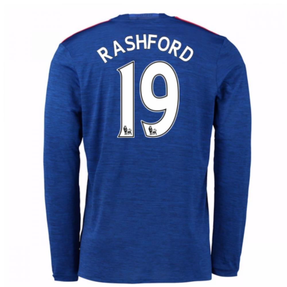 2016-17 Man United Away Long Sleeve Shirt (Rashford 19) - Kids