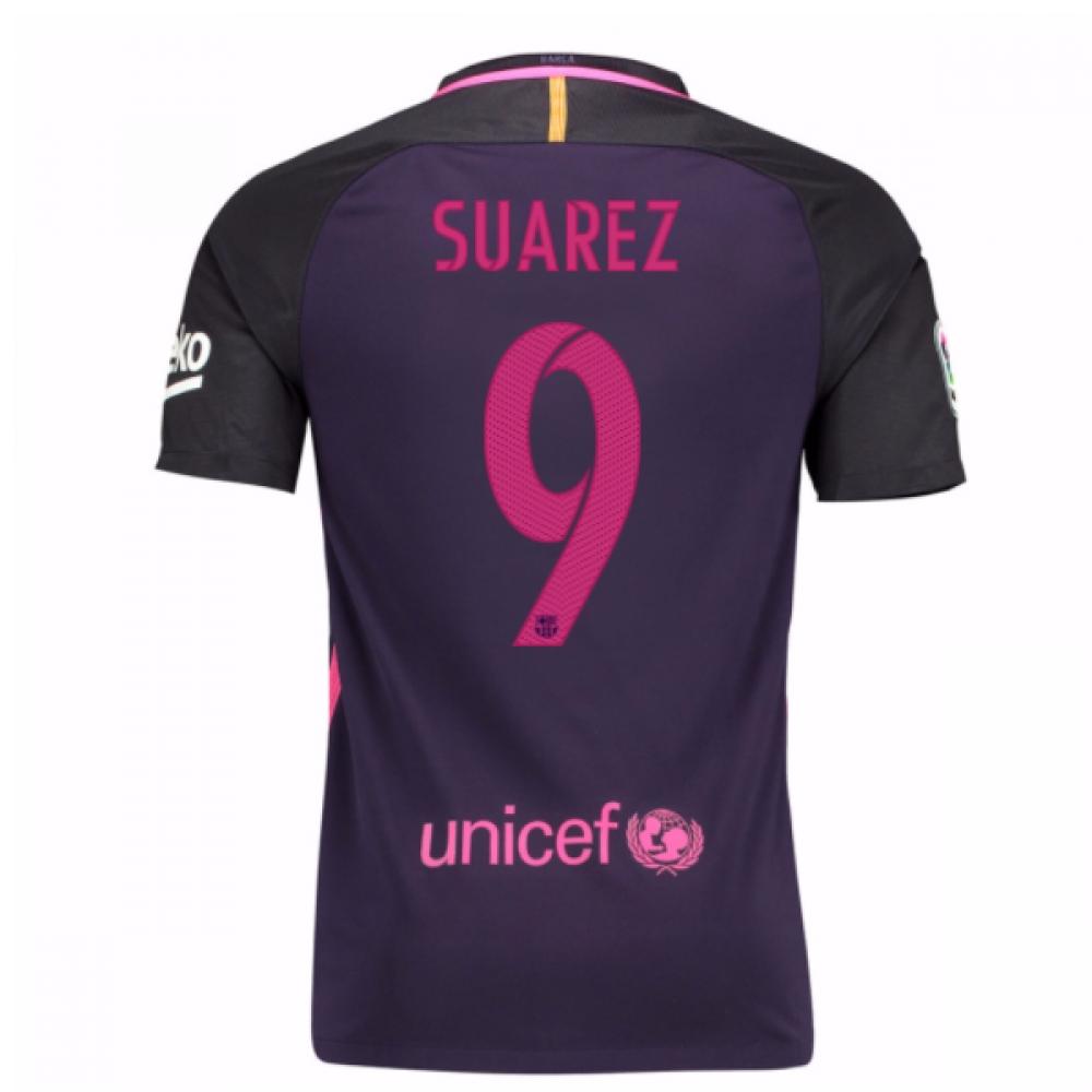 2016-17 Barcelona Away Shirt (Suarez 9) - Kids