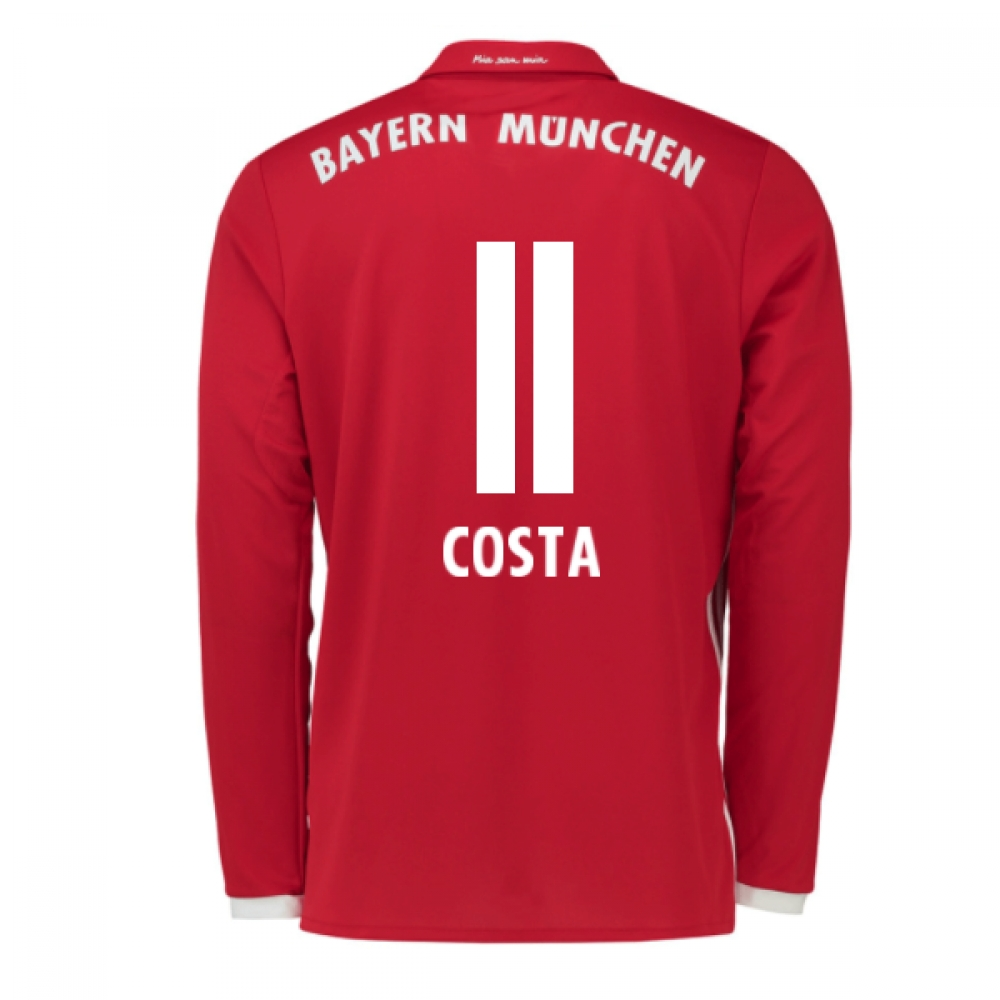 2016-17 Bayern Munich Long Sleeve Home Shirt (Costa 11) - Kids