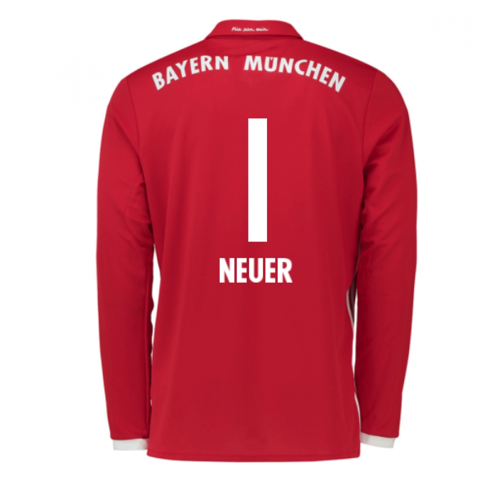 2016-17 Bayern Munich Long Sleeve Home Shirt (Neuer 1) - Kids