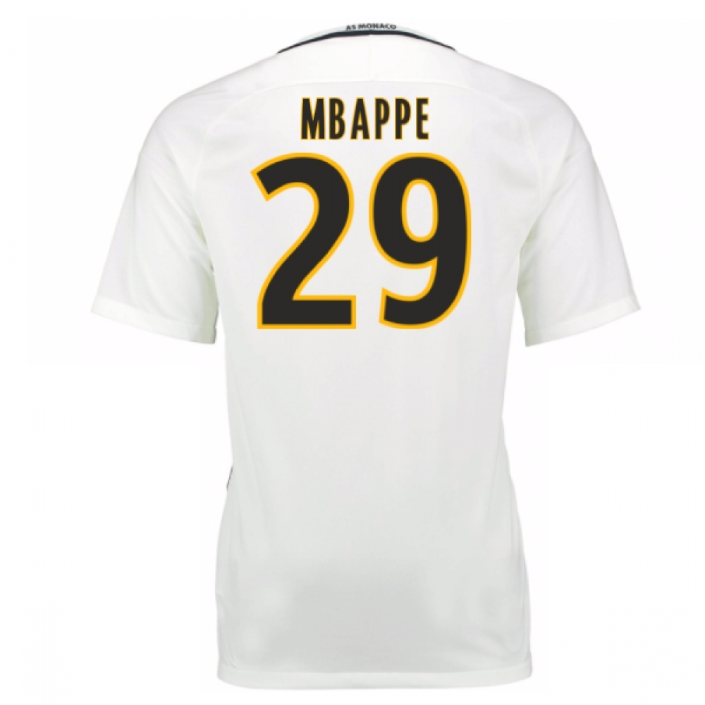 2016-17 Monaco Away Shirt (Mbappe 29) - Kids
