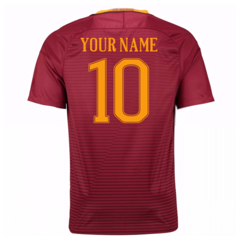 2016-17 Roma Home Shirt (Your Name) -Kids