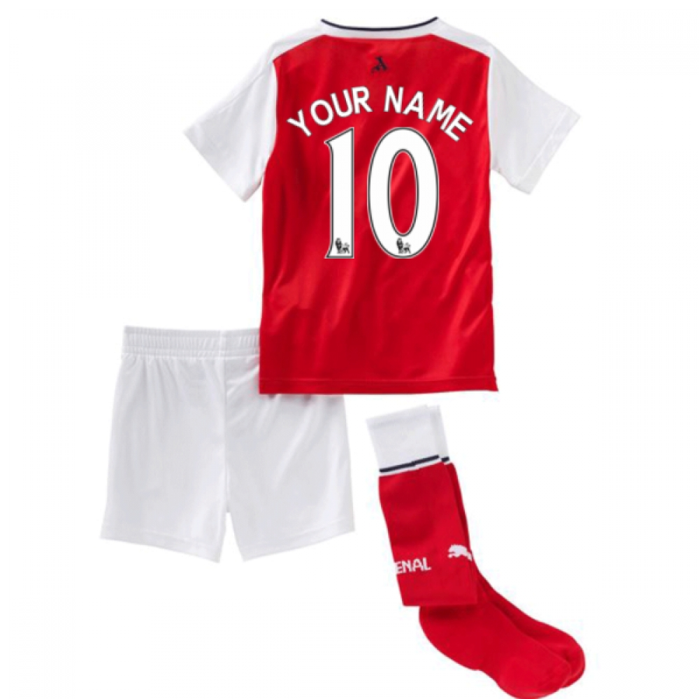 201617 Arsenal Home Little Boys Mini Kit (Your Name)