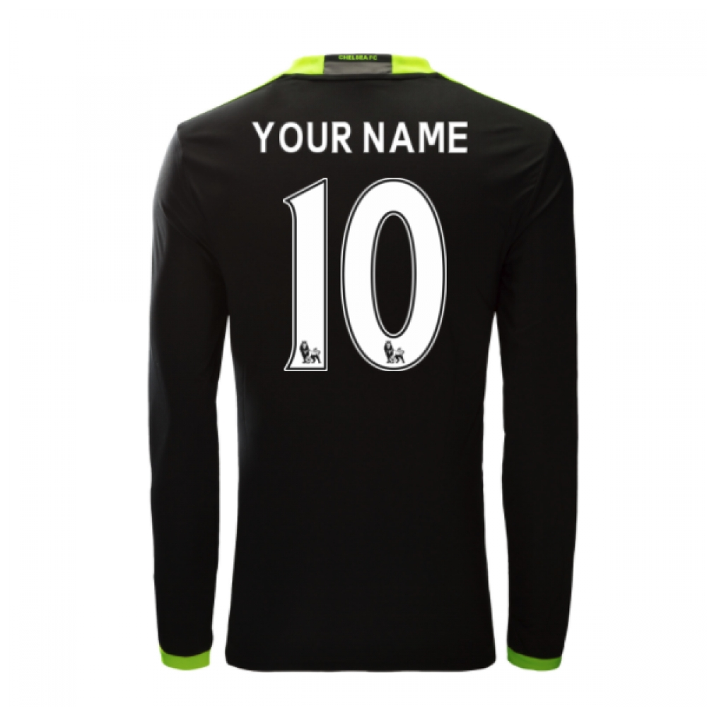 2016-17 Chelsea Away Long Sleeve Shirt (Your Name)